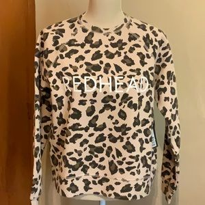 BRUNETTE Redhead Cheetah Cropped Sweatshirt XS/S